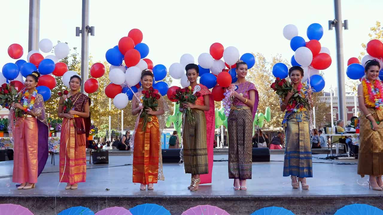 Miss Beauty Pageant Songkran 2018 Festival Perth Western Australia