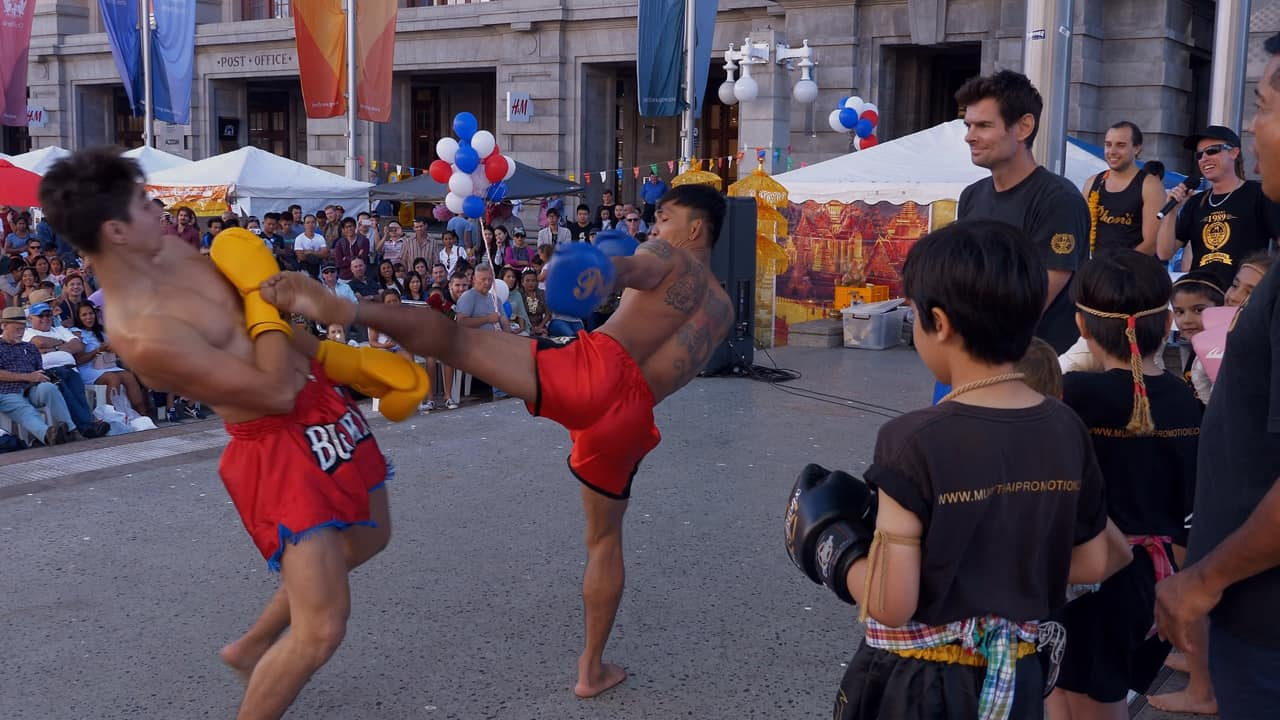 Muay Thai Fight Demo Songkran Festival 2018 Perth Australia
