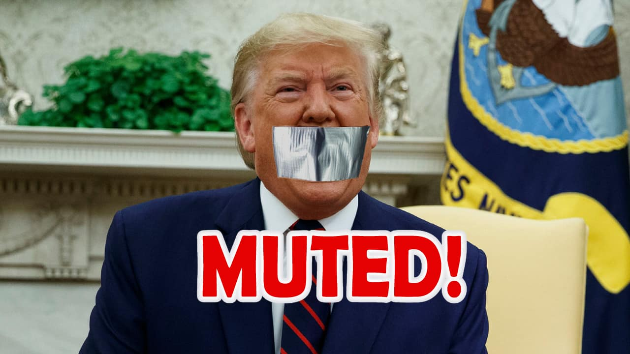 Trump muted by big US tech platforms the censorship of Internet started